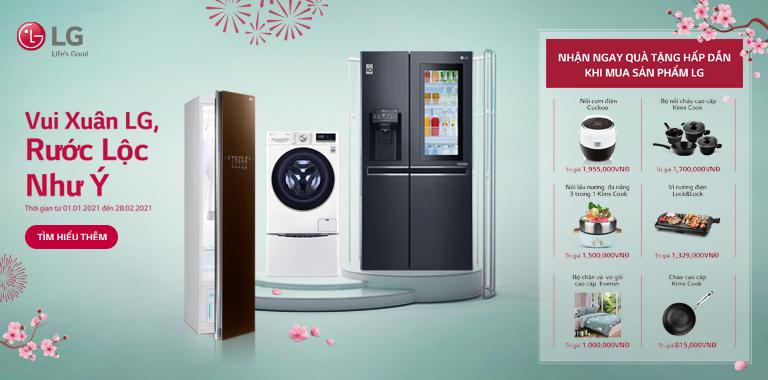 Nhận ngay quà tặng hấp dẫn khi mua sản phẩm của LG