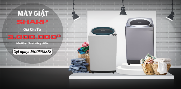 Mua máy giặt Sharp chỉ từ 3 triệu