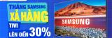Tháng Samsung xả hàng 30%