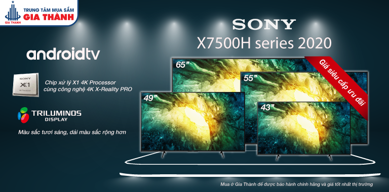 Android TV Sony 4K X7500H Series 2020